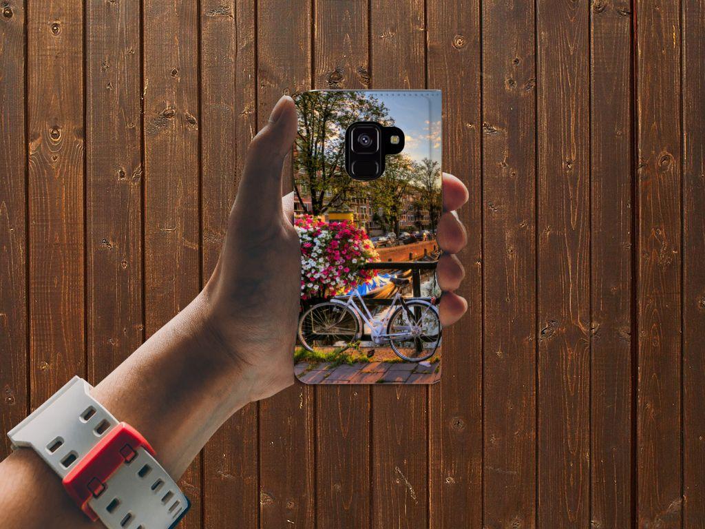 Samsung Galaxy A8 (2018) Uniek Standcase Hoesje Amsterdamse Grachten