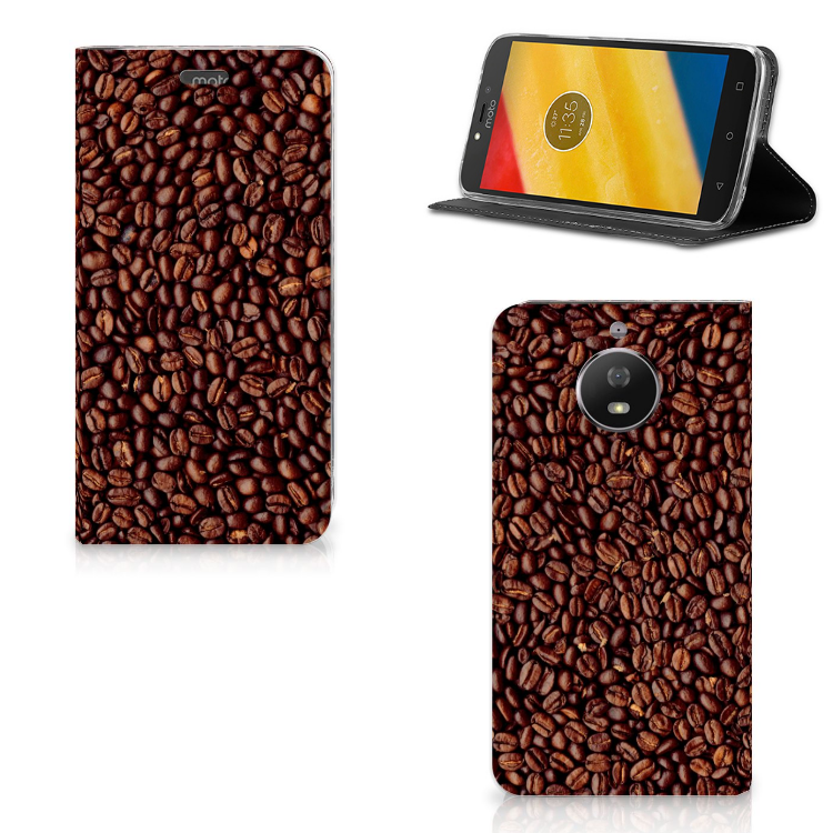 Motorola Moto G5S Flip Style Cover Koffiebonen