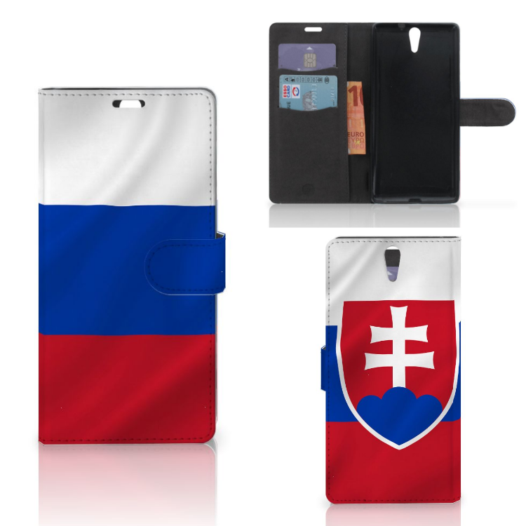 Sony Xperia C5 Ultra Bookstyle Case Slowakije