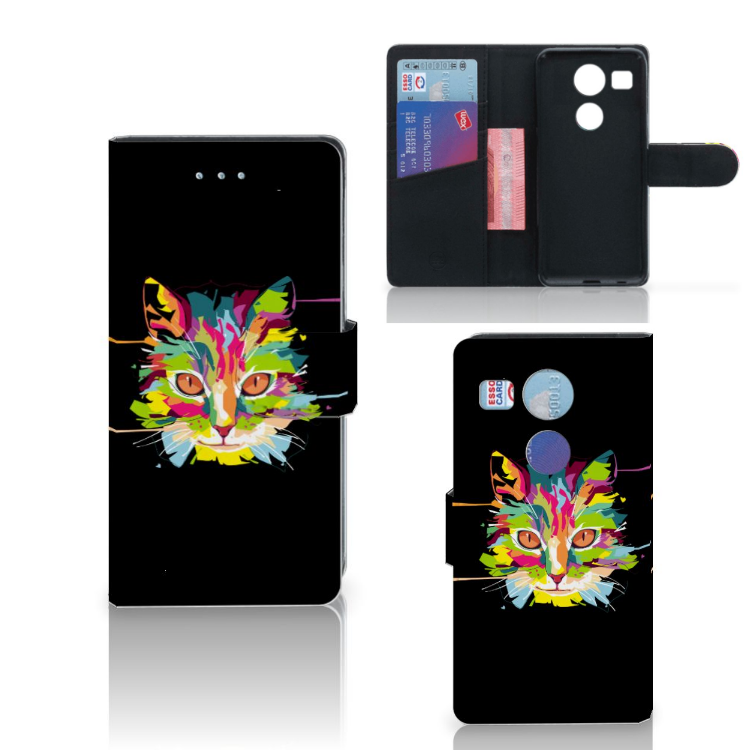 LG Nexus 5X Leuk Hoesje Cat Color