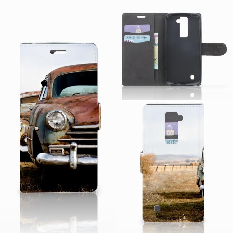 LG K10 2015 Telefoonhoesje met foto Vintage Auto