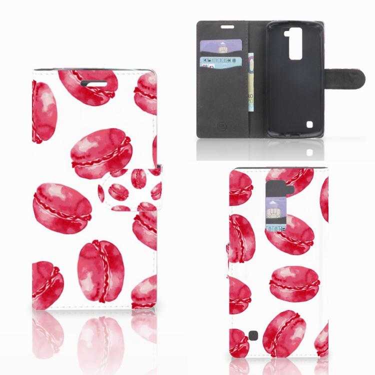 LG K10 2015 Book Cover Pink Macarons
