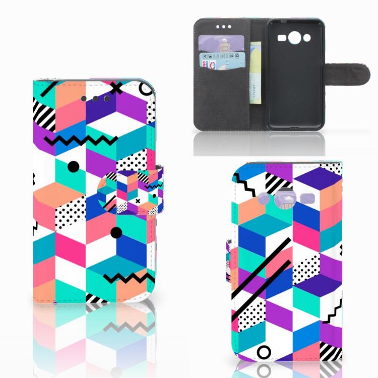 Samsung Galaxy Core 2 Bookcase Blokken Kleurrijk