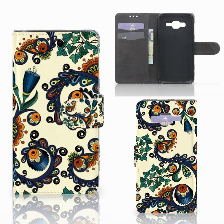 Wallet Case Samsung Galaxy J5 (2015) Barok Flower
