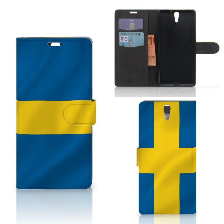 Sony Xperia C5 Ultra Bookstyle Case Zweden