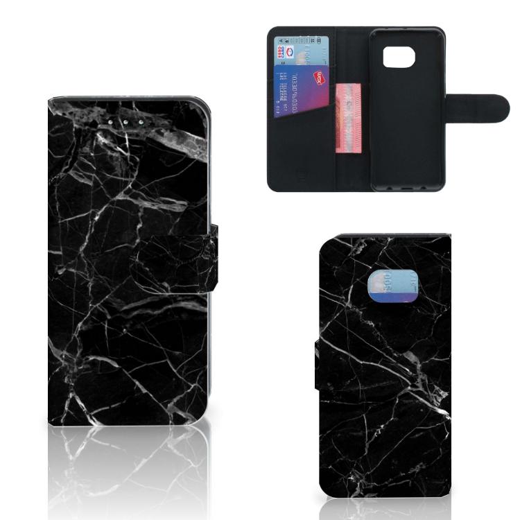 Samsung Galaxy S6 Edge Bookcase Marmer Zwart