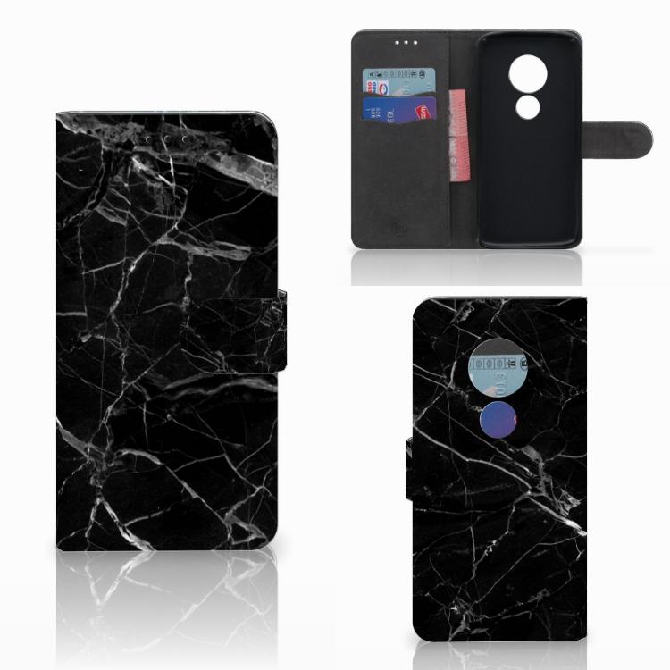 Motorola Moto E5 Bookcase Marmer Zwart