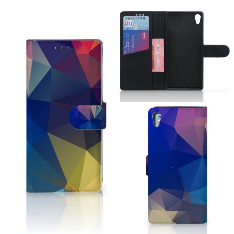 Sony Xperia XA1 Ultra Bookcase Polygon Dark
