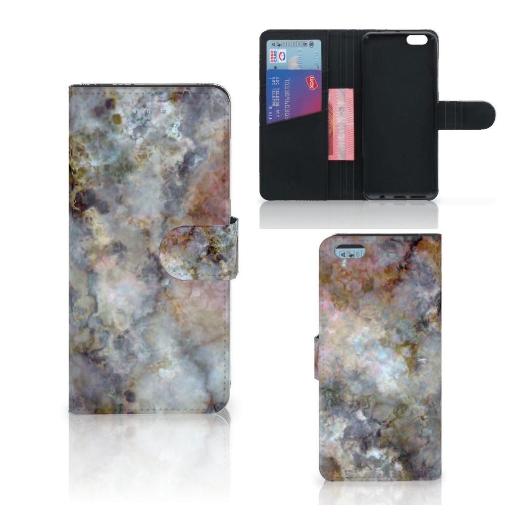 Apple iPhone 6 Plus | 6s Plus Bookcase Marmer Grijs