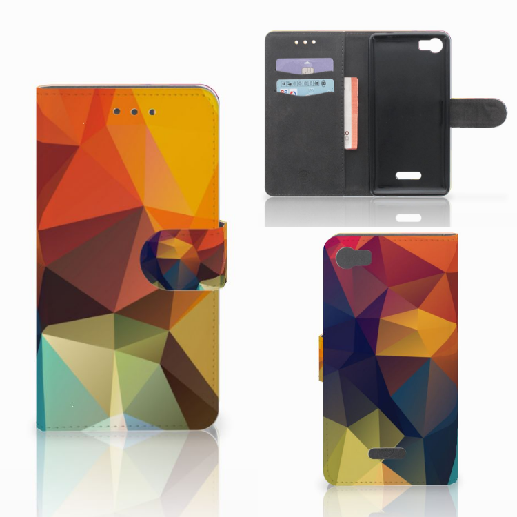 Wiko Fever (4G) Bookcase Polygon Color