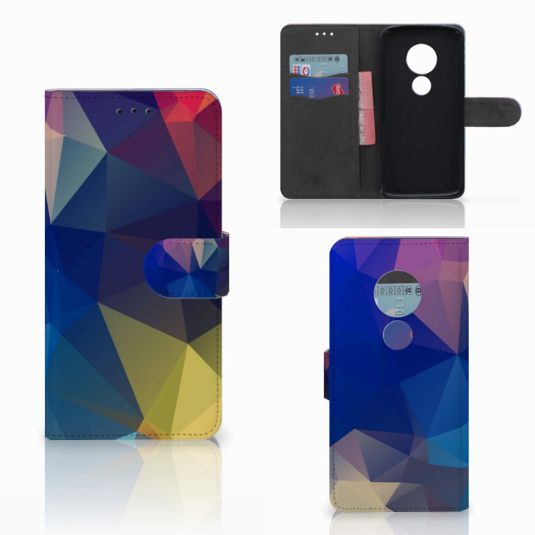 Motorola Moto E5 Bookcase Polygon Dark