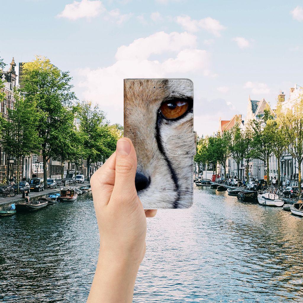 Samsung Galaxy J7 2016 Telefoonhoesje met Pasjes Cheetah