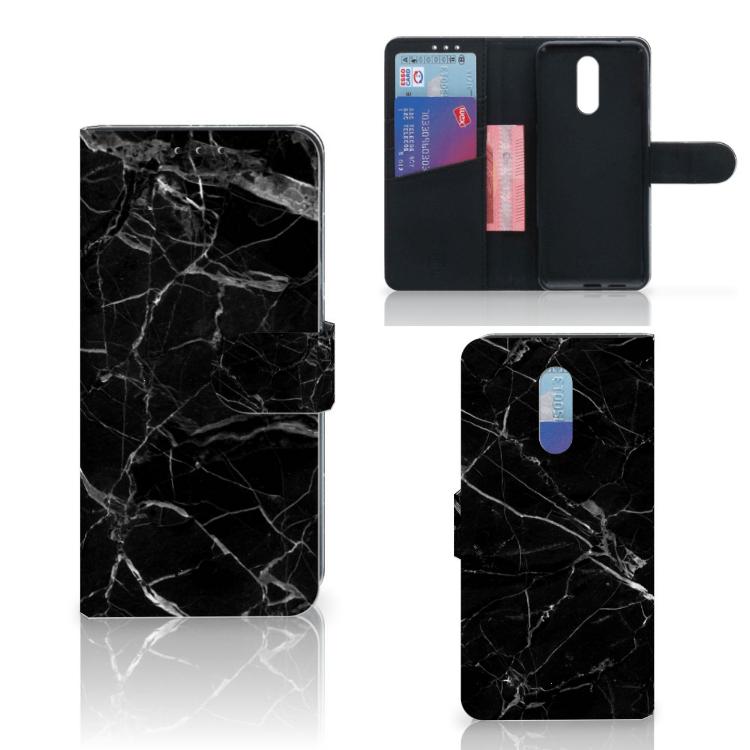 Nokia 3.2 Bookcase Marmer Zwart - Origineel Cadeau Vader