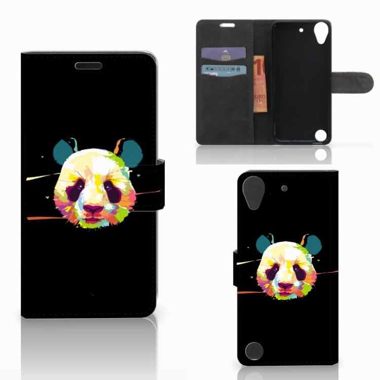 HTC Desire 530 Leuke Hoesje Panda Color