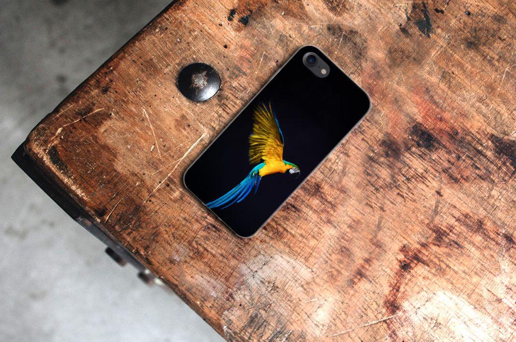 iPhone SE (2020) | 7/8 TPU Hoesje Papegaai