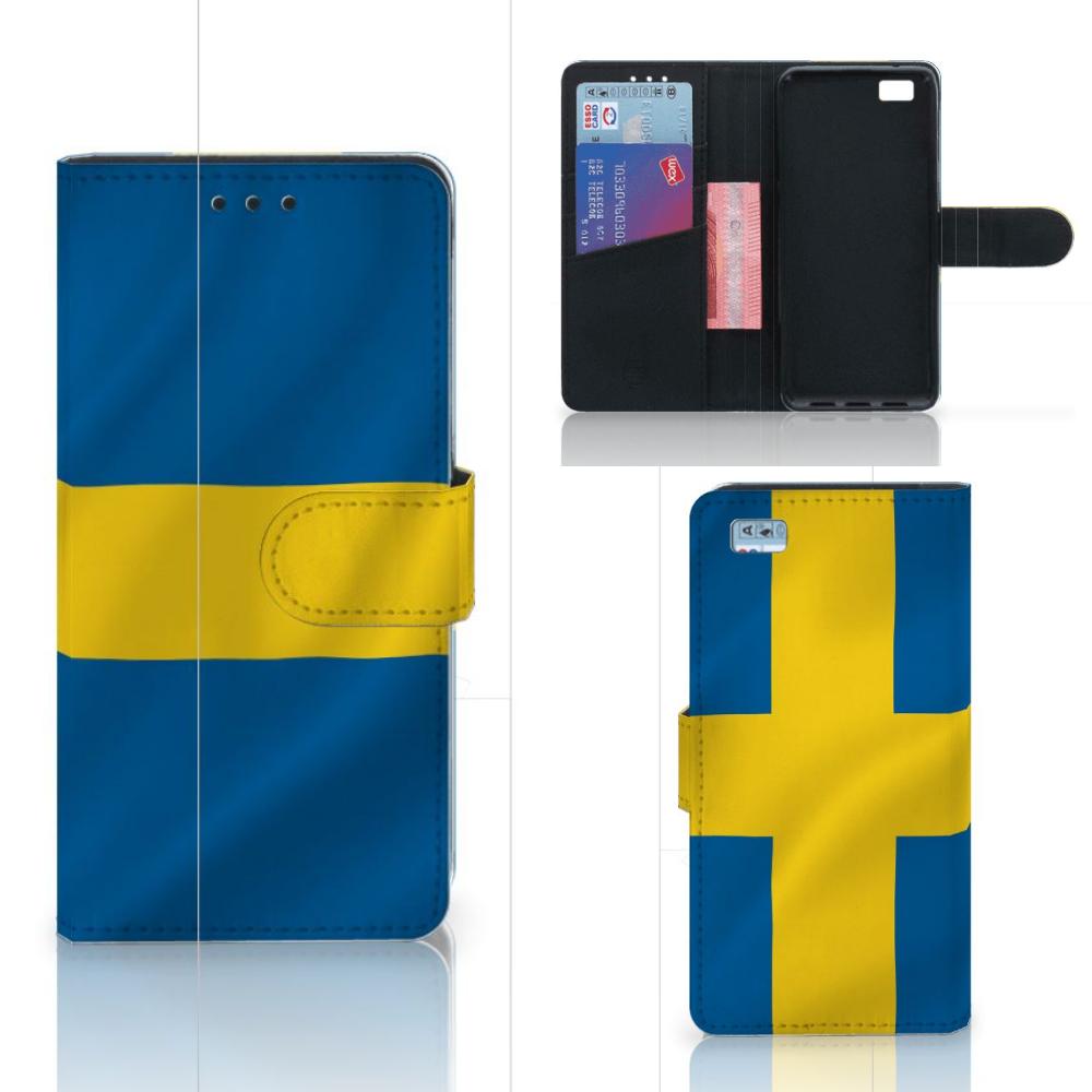 Huawei Ascend P8 Lite Bookstyle Case Zweden