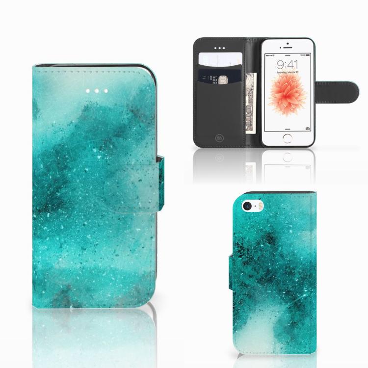 Hoesje Apple iPhone 5 | 5s | SE Painting Blue