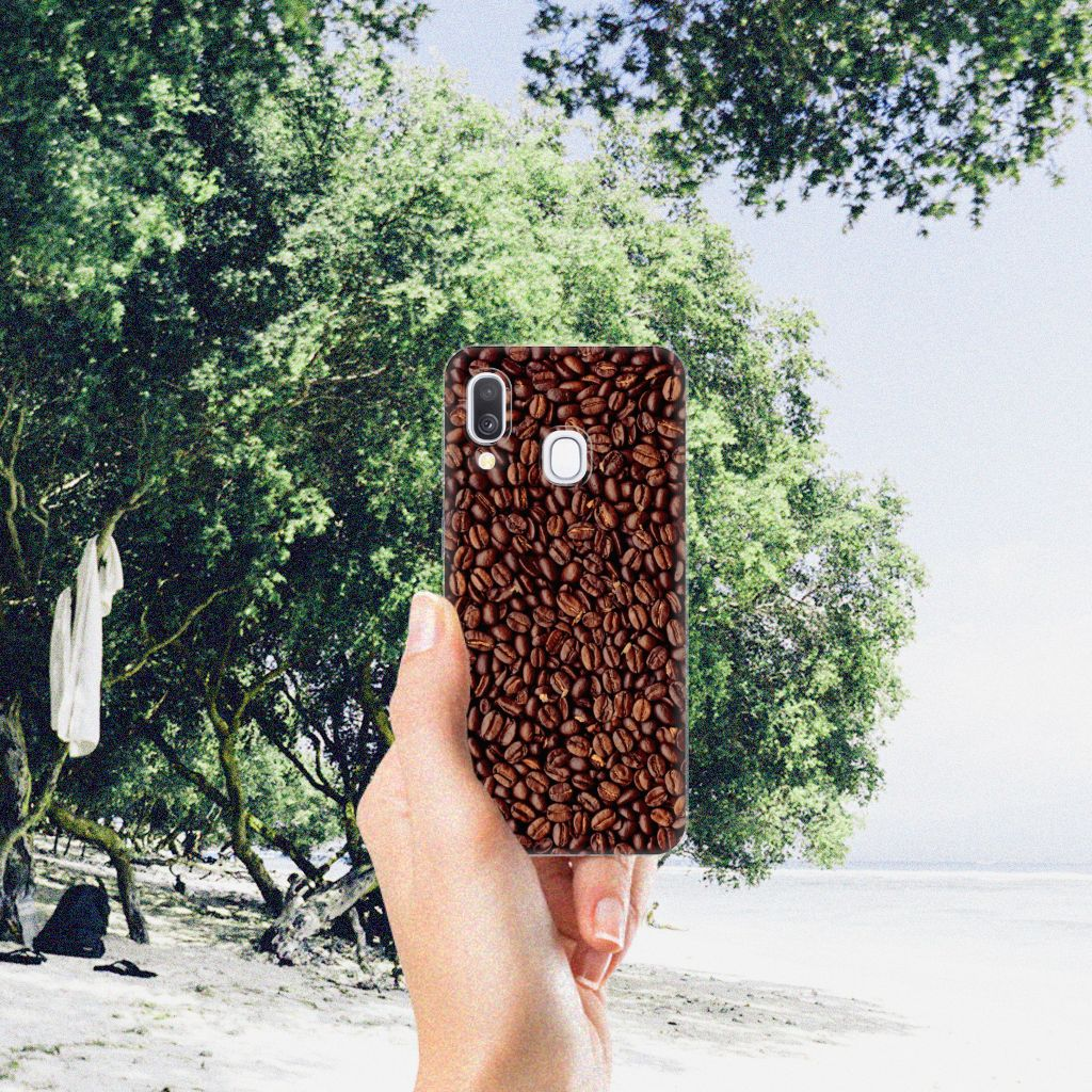 Samsung Galaxy A40 Siliconen Case Koffiebonen