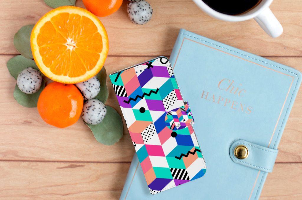 Samsung Galaxy S8 Boekhoesje Design Blocks Colorful