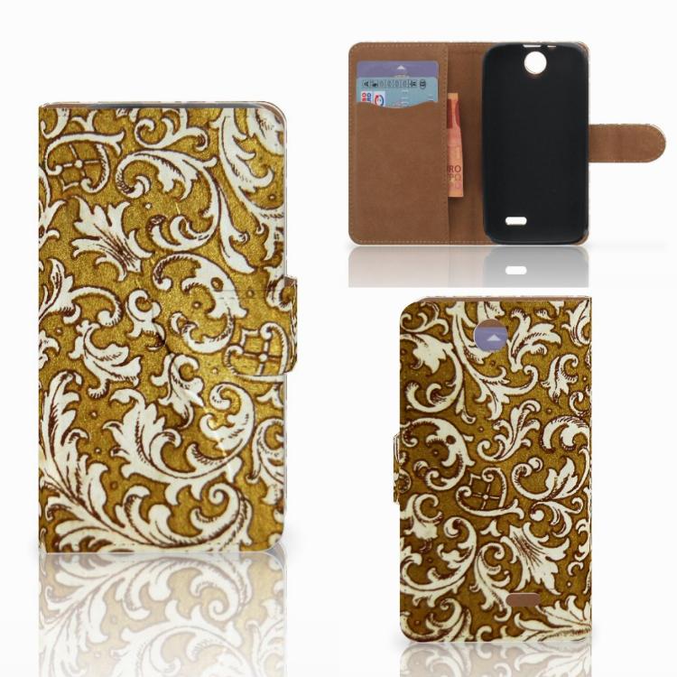 Wallet Case HTC Desire 310 Barok Goud
