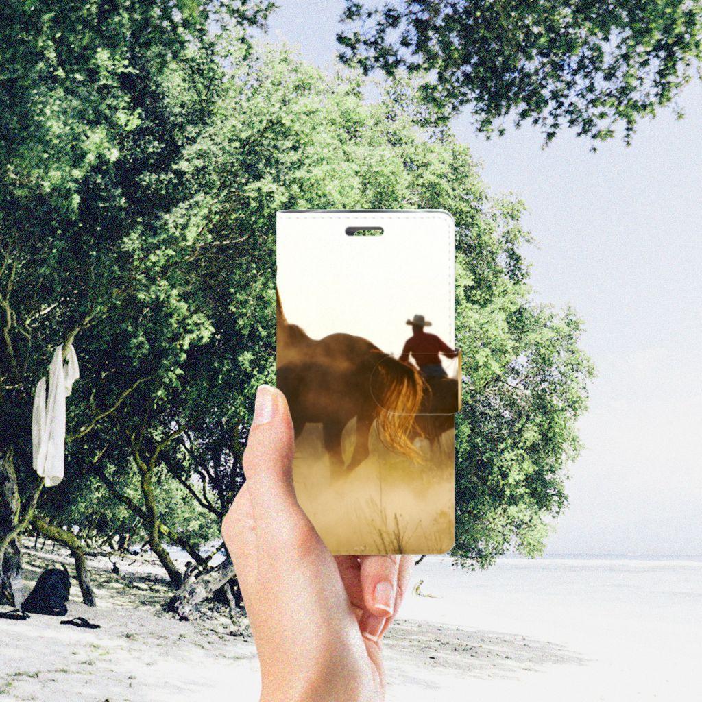 LG K10 2015 Telefoonhoesje met Pasjes Design Cowboy