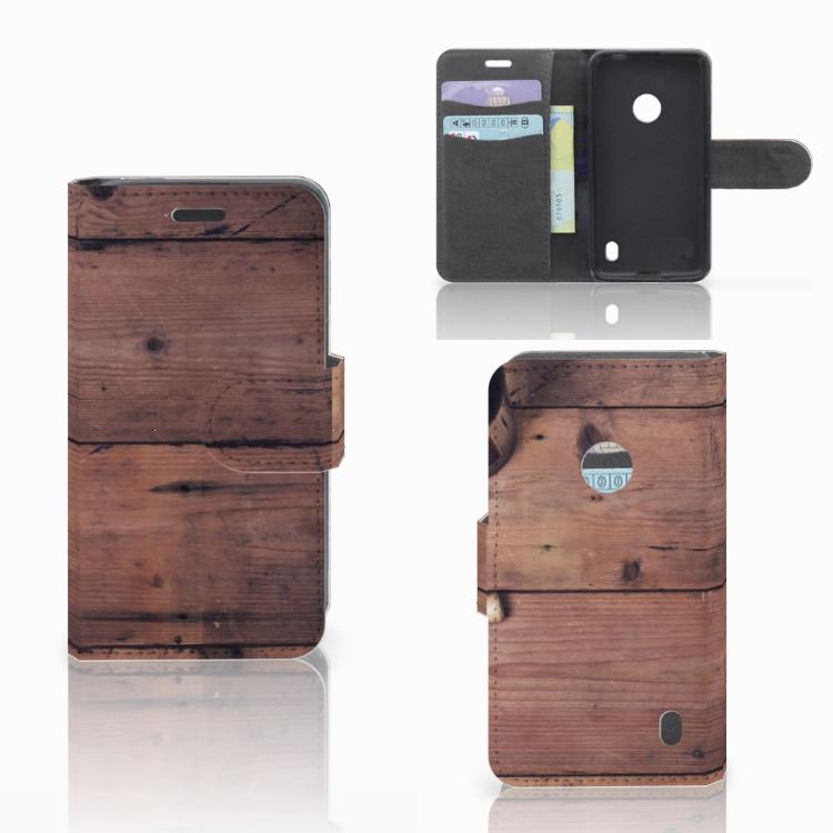 Nokia Lumia 520 Book Style Case Old Wood