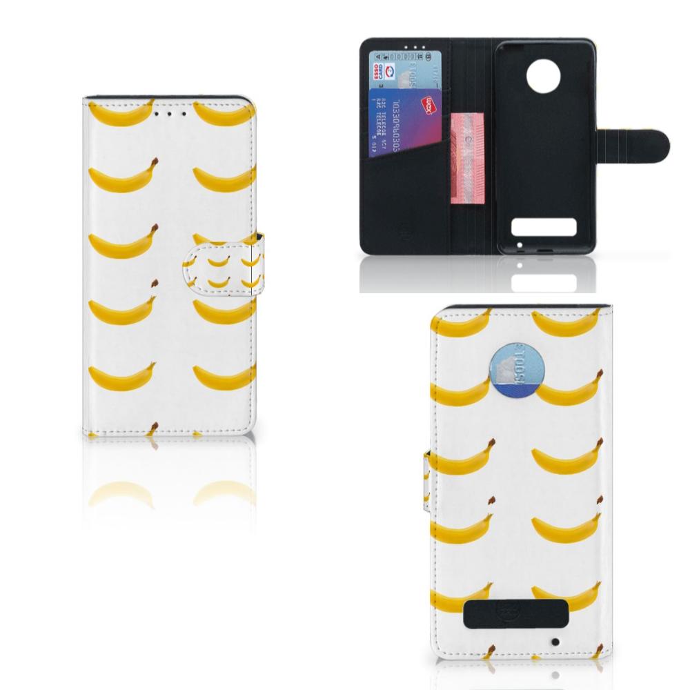 Motorola Moto Z Play Book Cover Banana