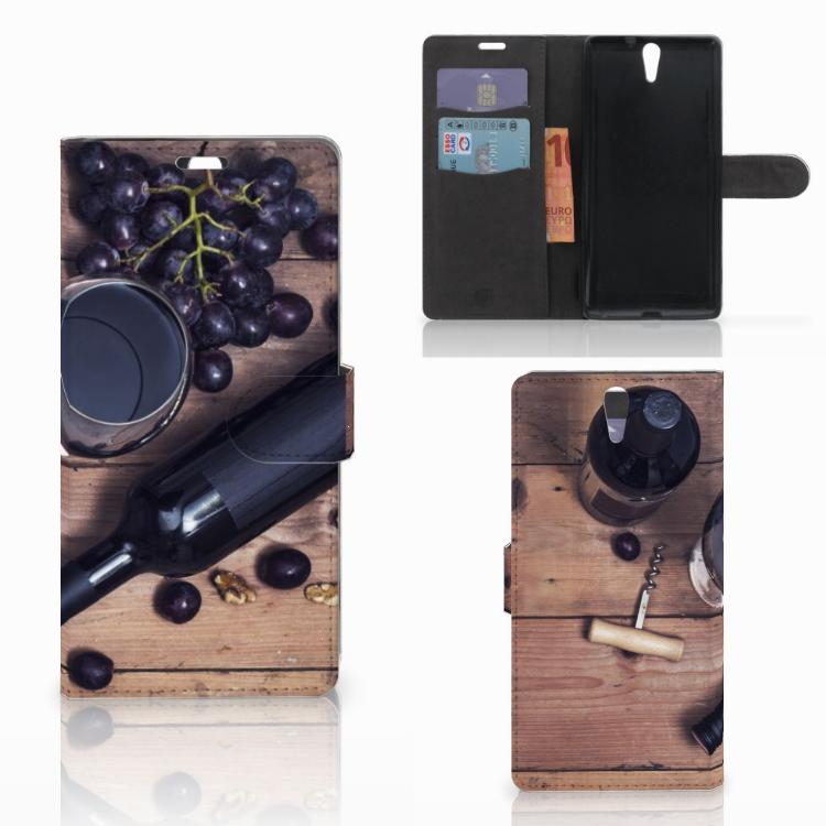 Sony Xperia C5 Ultra Book Cover Wijn