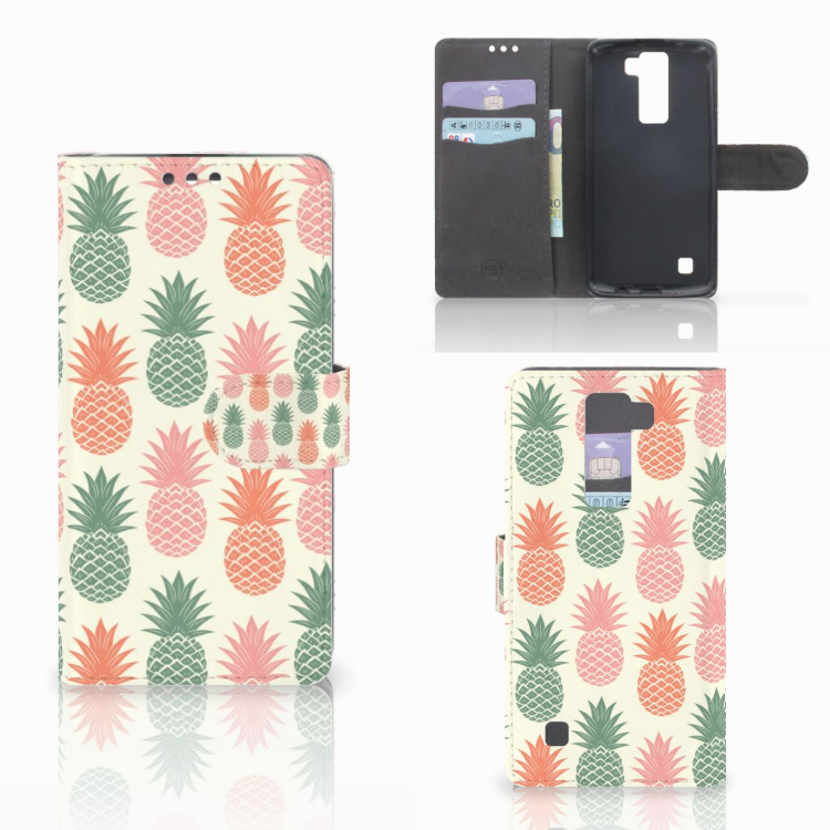 LG K8 Book Cover Ananas