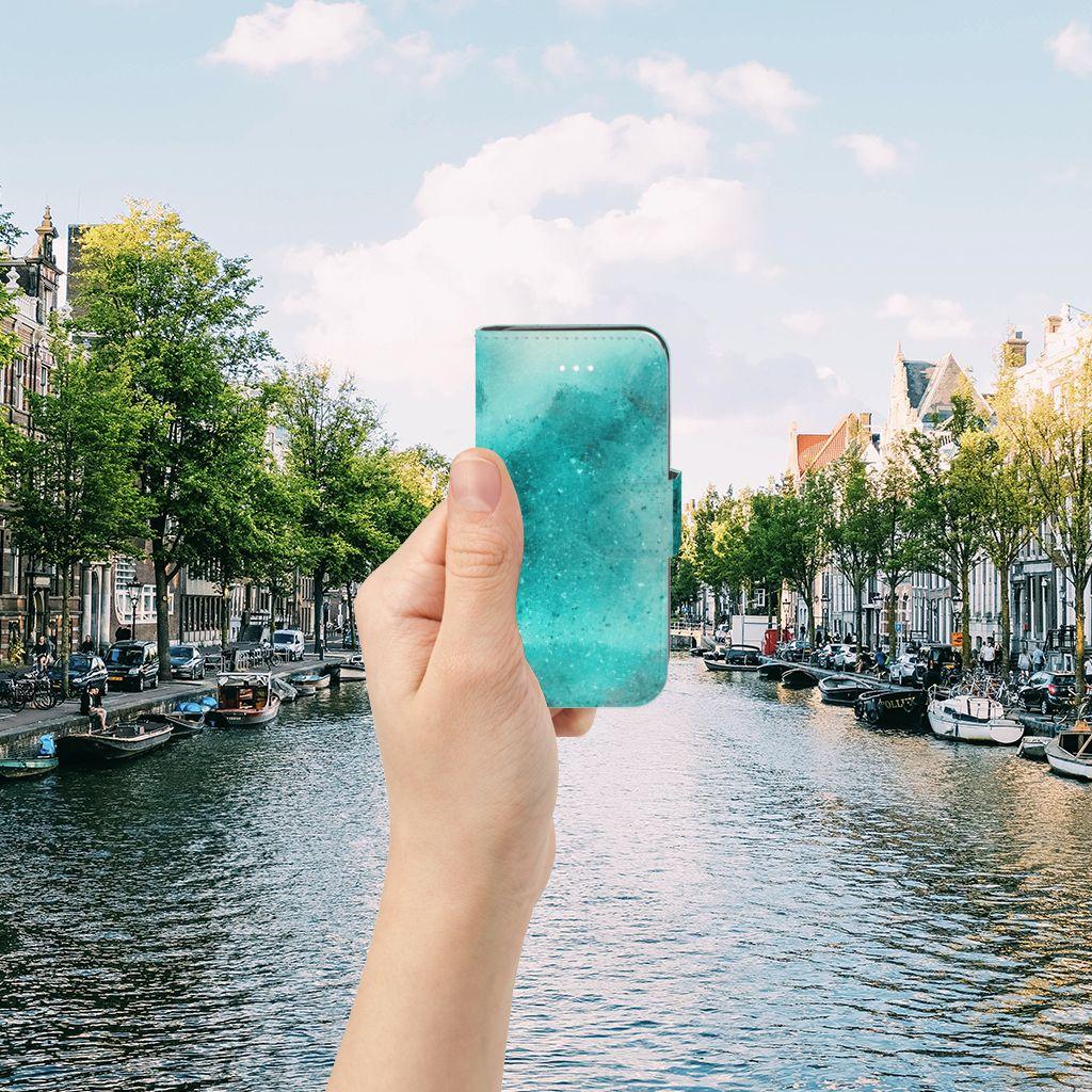 Apple iPhone 5 | 5s | SE Uniek Boekhoesje Painting Blue