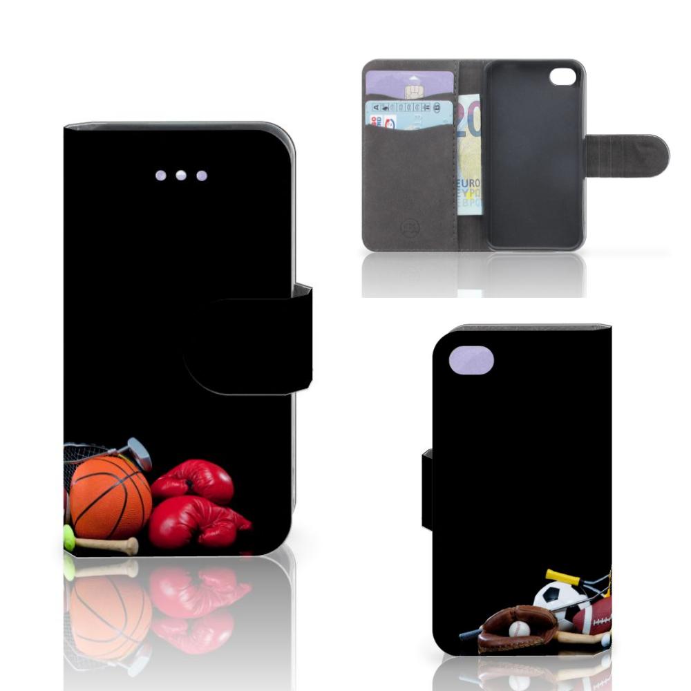 Apple iPhone 4   4S Wallet Case met Pasjes Sports