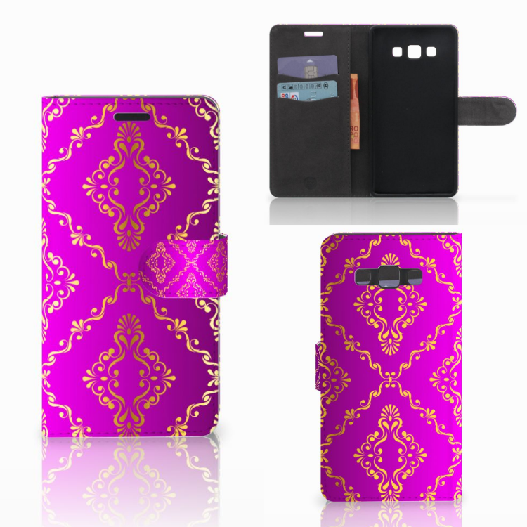 Wallet Case Samsung Galaxy A7 2015 Barok Roze