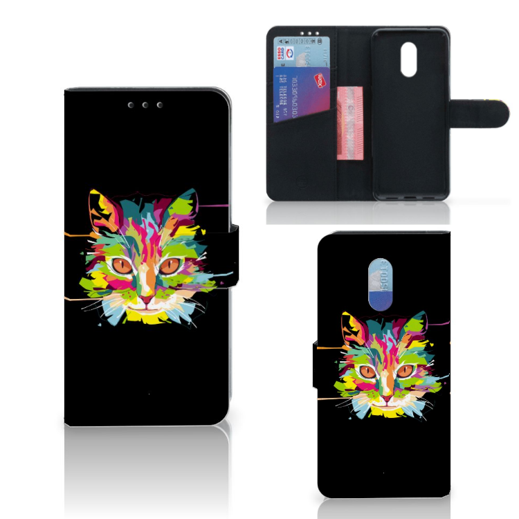 OnePlus 6T Leuk Hoesje Cat Color