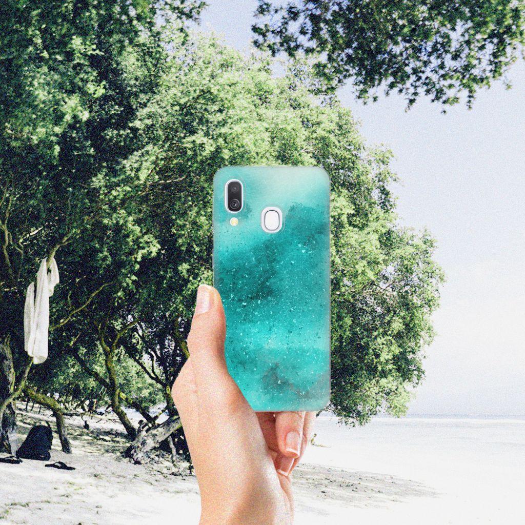 Hoesje maken Samsung Galaxy A40 Painting Blue