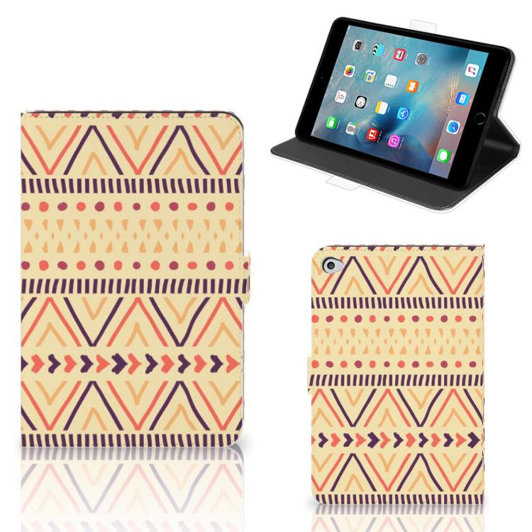 Apple iPad Mini 5 Tablet Hoes Aztec Yellow