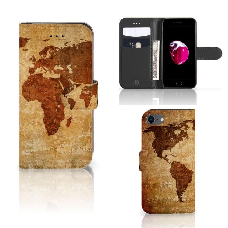 iPhone 7   8   SE (2020) Flip Cover Wereldkaart
