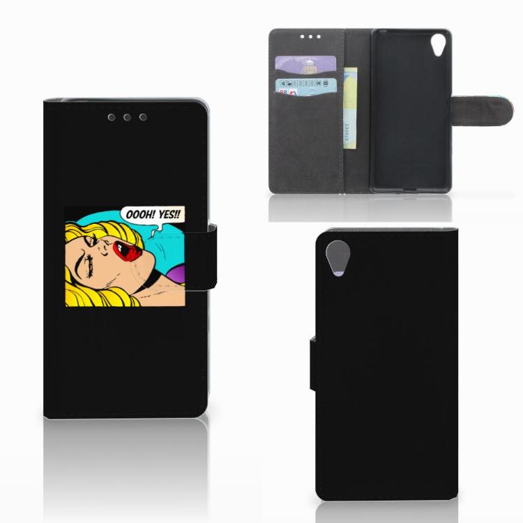 Sony Xperia X Wallet Case met Pasjes Popart Oh Yes