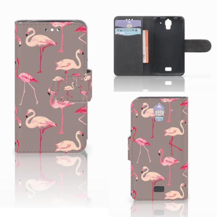 Huawei Y360 Telefoonhoesje met Pasjes Flamingo