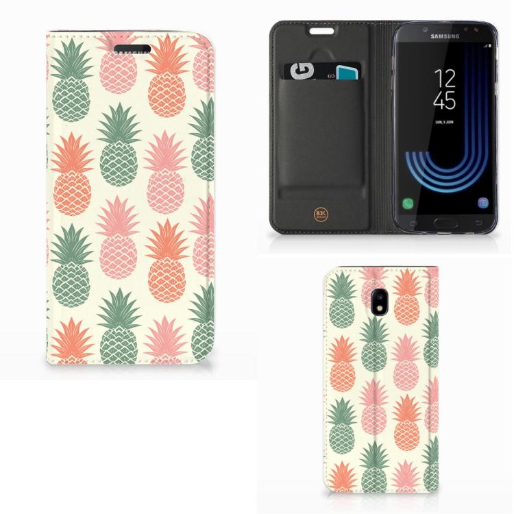 Samsung Galaxy J5 2017 Flip Style Cover Ananas