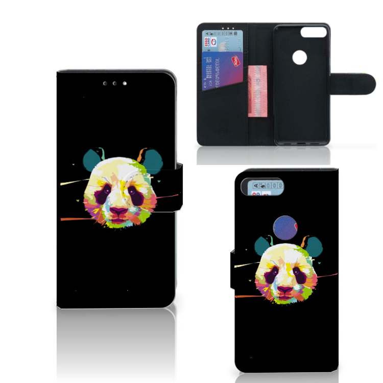 Alcatel 1S (2019) Leuk Hoesje Panda Color