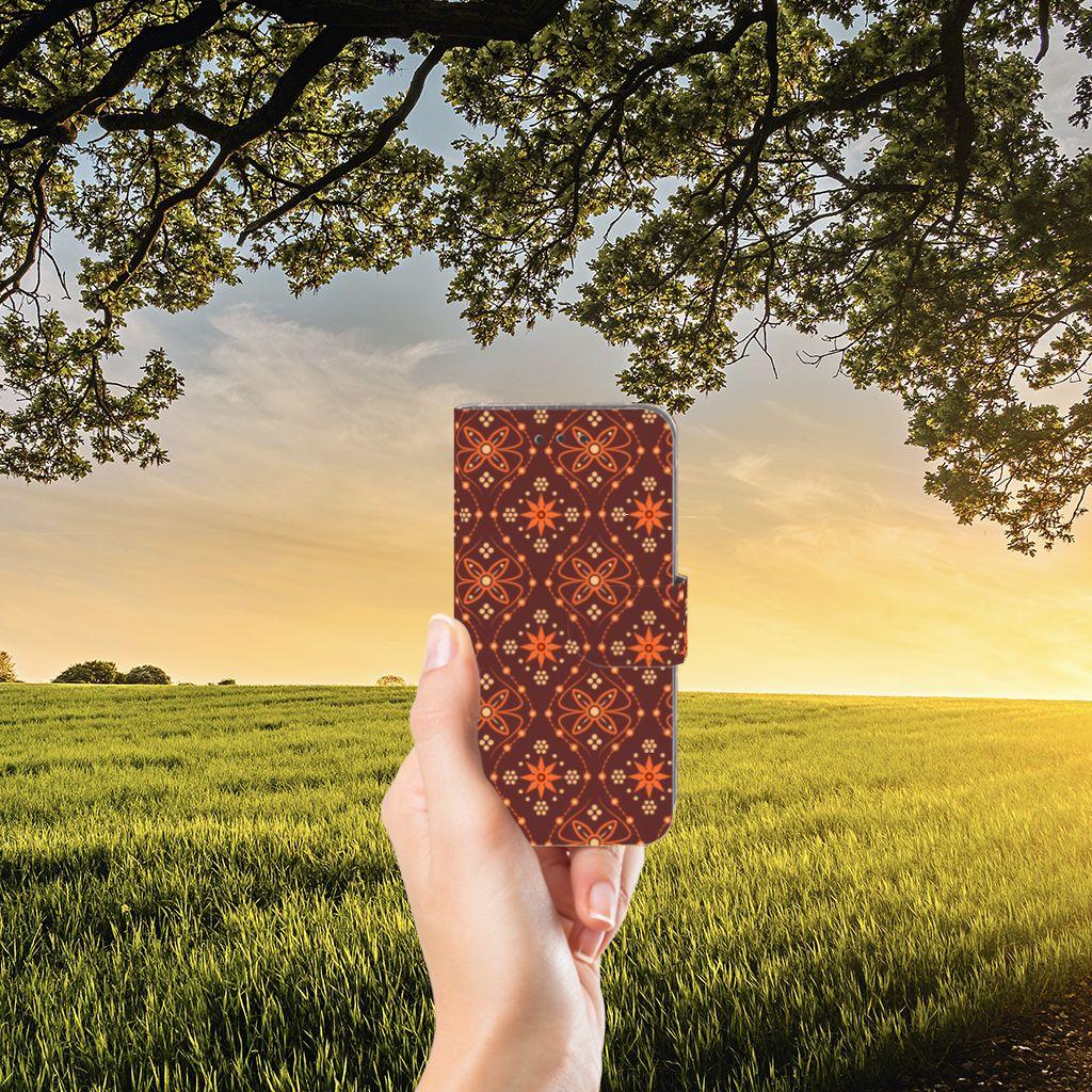 Samsung Galaxy J3 2016 Uniek Boekhoesje Batik Brown