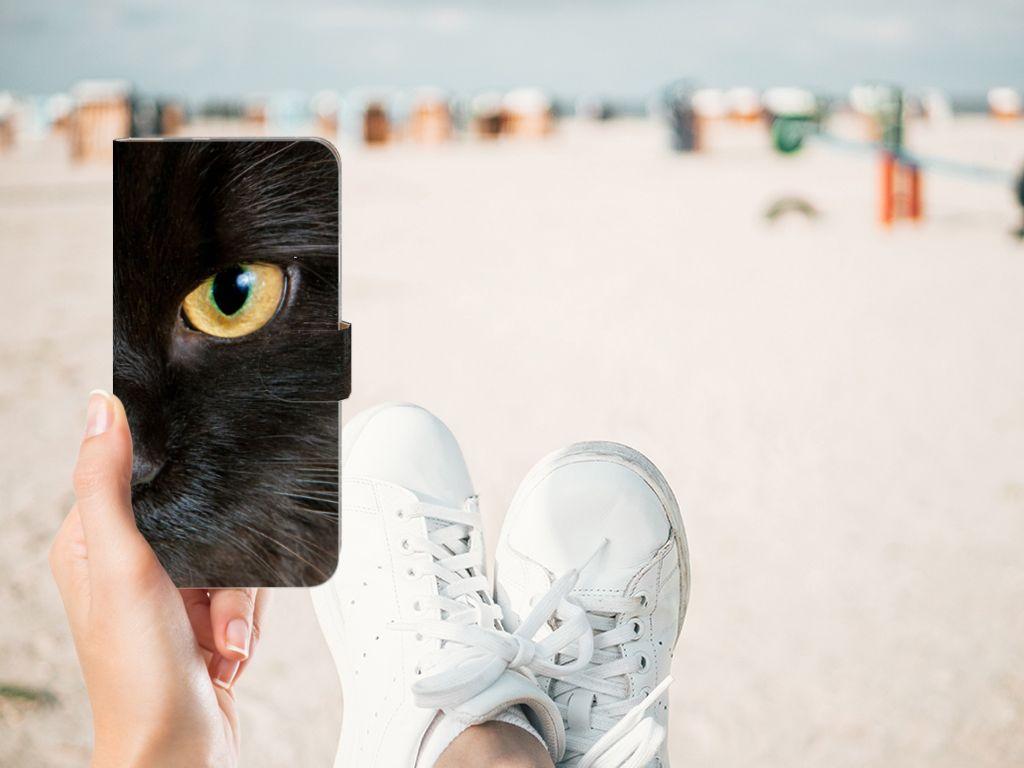 Google Pixel XL Uniek Boekhoesje Zwarte Kat