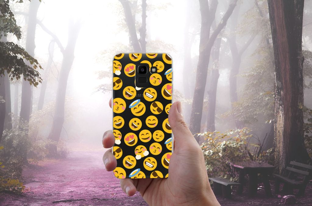 Samsung Galaxy J6 2018 TPU Hoesje Design Emoji