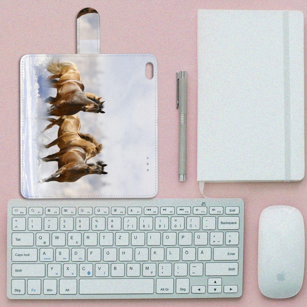 Apple iPhone 6 Plus   6s Plus Telefoonhoesje met Pasjes Paarden