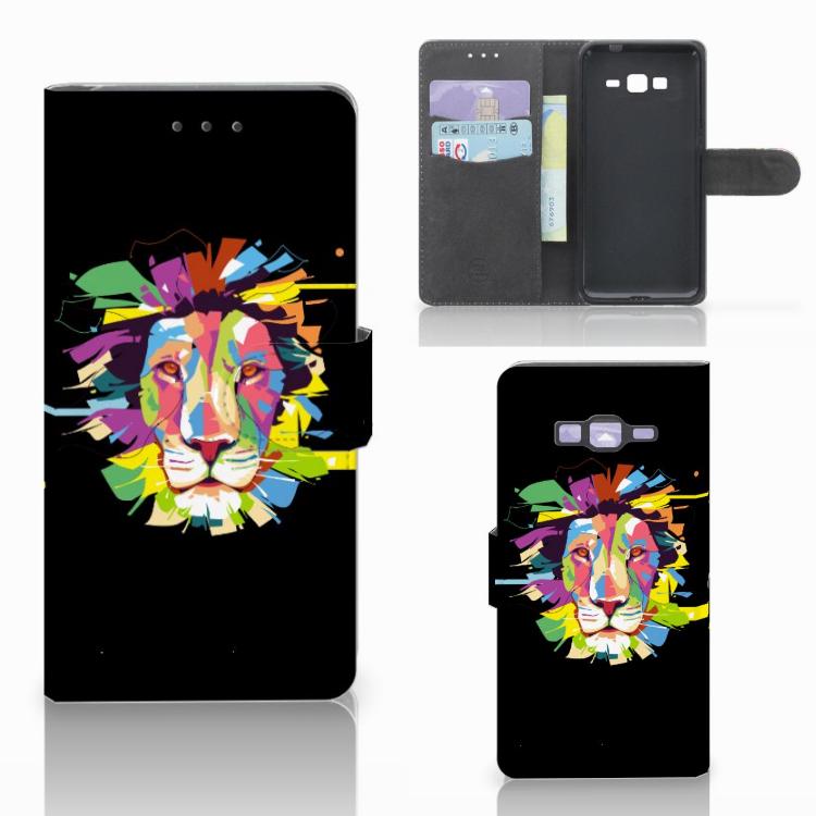 Samsung Galaxy Grand Prime | Grand Prime VE G531F Leuk Hoesje Lion Color