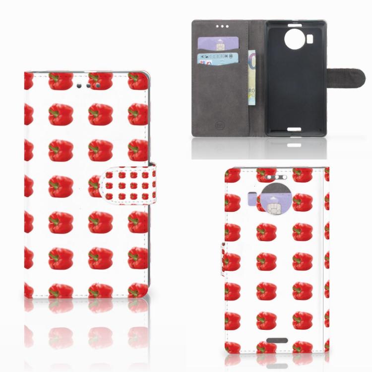 Microsoft Lumia 950 XL Book Cover Paprika Red