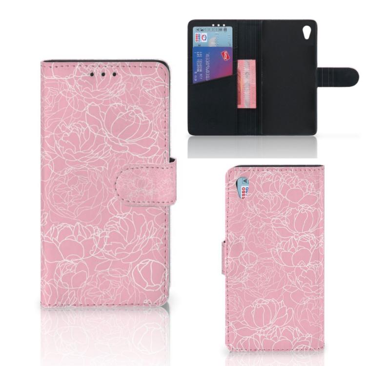 Sony Xperia Z3 Wallet Case White Flowers