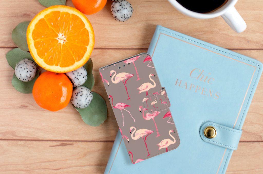 Huawei Y5 Y560 Telefoonhoesje met Pasjes Flamingo
