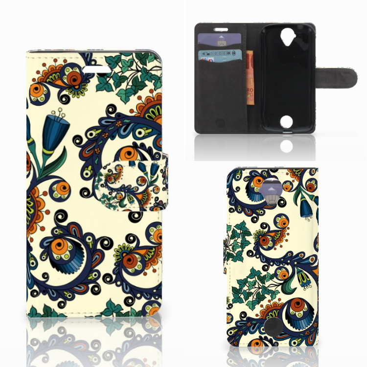 Wallet Case Acer Liquid Z330 Barok Flower