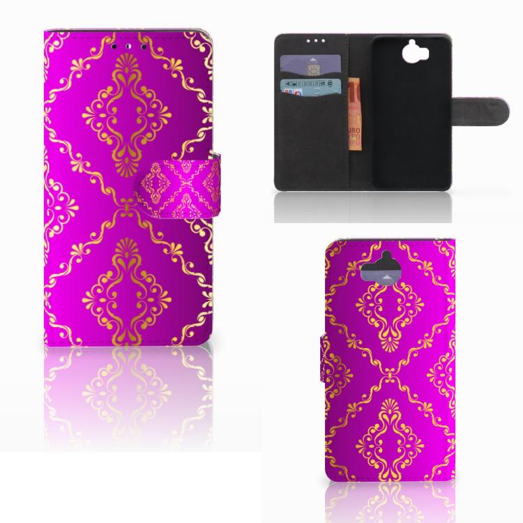 Wallet Case Huawei Y5 | Y6 2017 Barok Roze